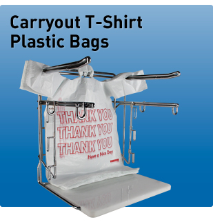 Carryout T Shirt Plastic Bags